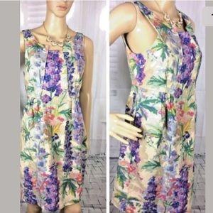 Edme & Esyllte Linen Anthropologie Dress